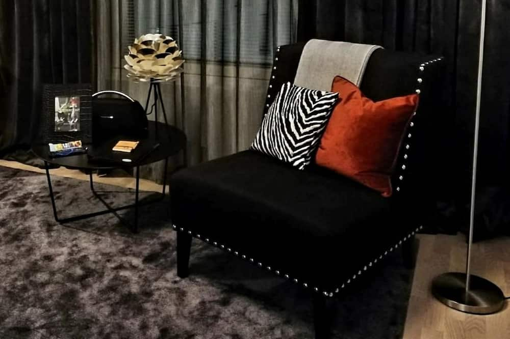 Deluxe-lejlighed - sauna - Stue