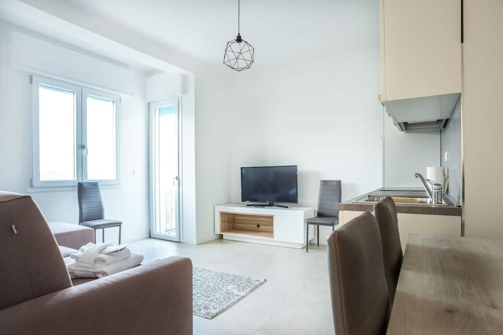 Dzīvokļnumurs, viena guļamistaba - Dzīvojamā istaba