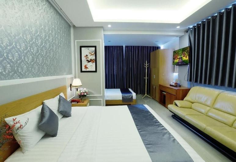 Lucky Star Hotel 266 De Tham, Bandar Raya Ho Chi Minh, Luxury Suite, City View, Bilik Tamu
