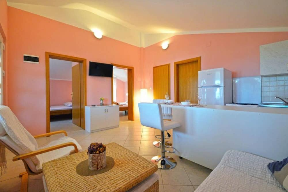 아파트, 침실 2개 - 거실 공간