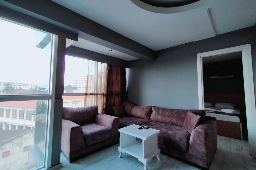 Basic Διαμέρισμα, Μπανιέρα με Υδρομασάζ - Περιοχή καθιστικού