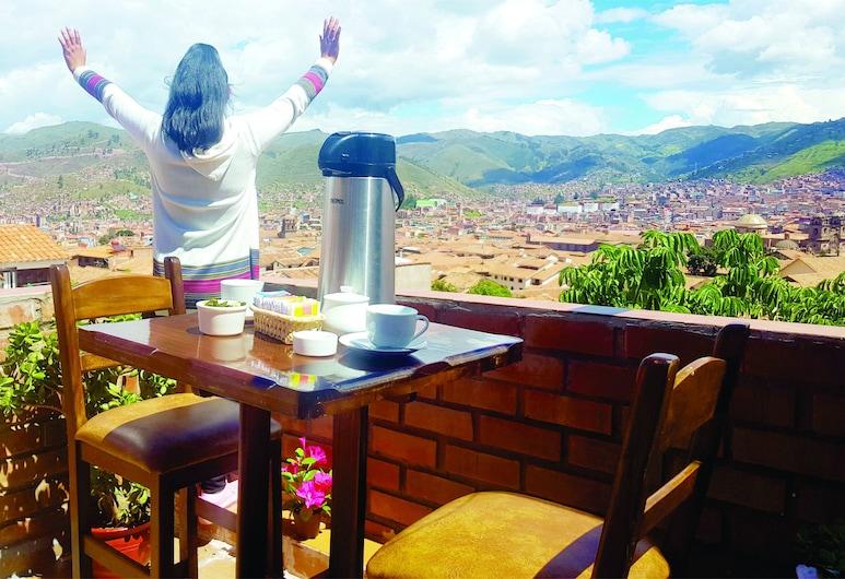 Hostal Comarca Imperial, Cusco, Deluxe tweepersoonskamer, 1 tweepersoonsbed, Uitzicht op de stad, Terras