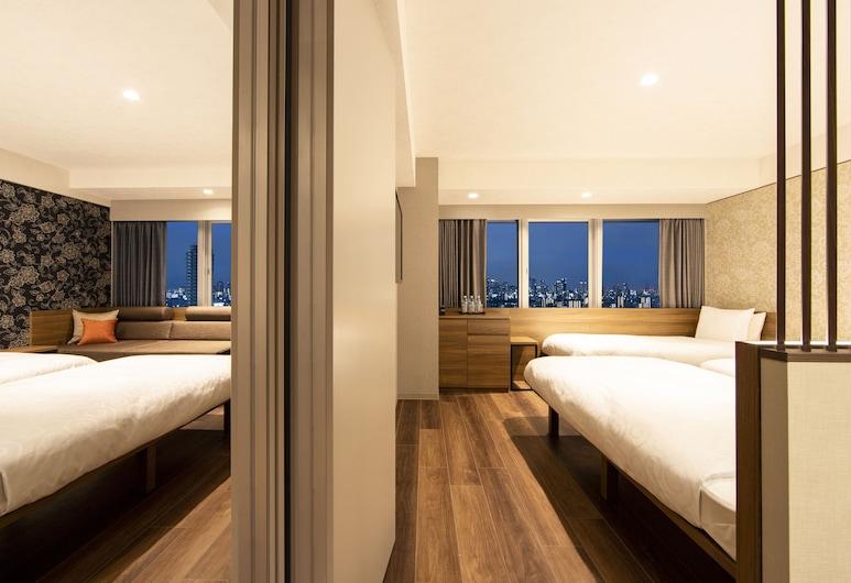 karaksa hotel grande Shin-Osaka Tower, Osaka, Habitación (High Floor Connect for 4), Habitación