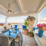 Apartmán, 2 ložnice, částečný výhled na moře - Terasa