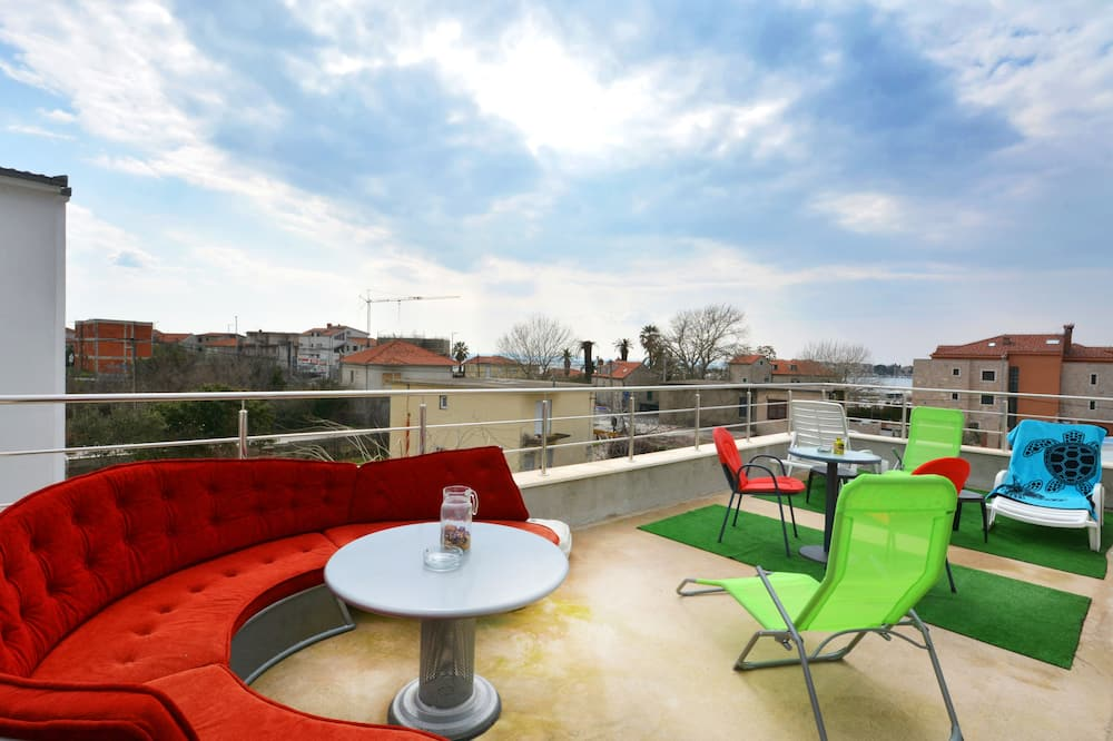 Panoramic Apartment, Multiple Beds, Sea View - Terrace/Patio