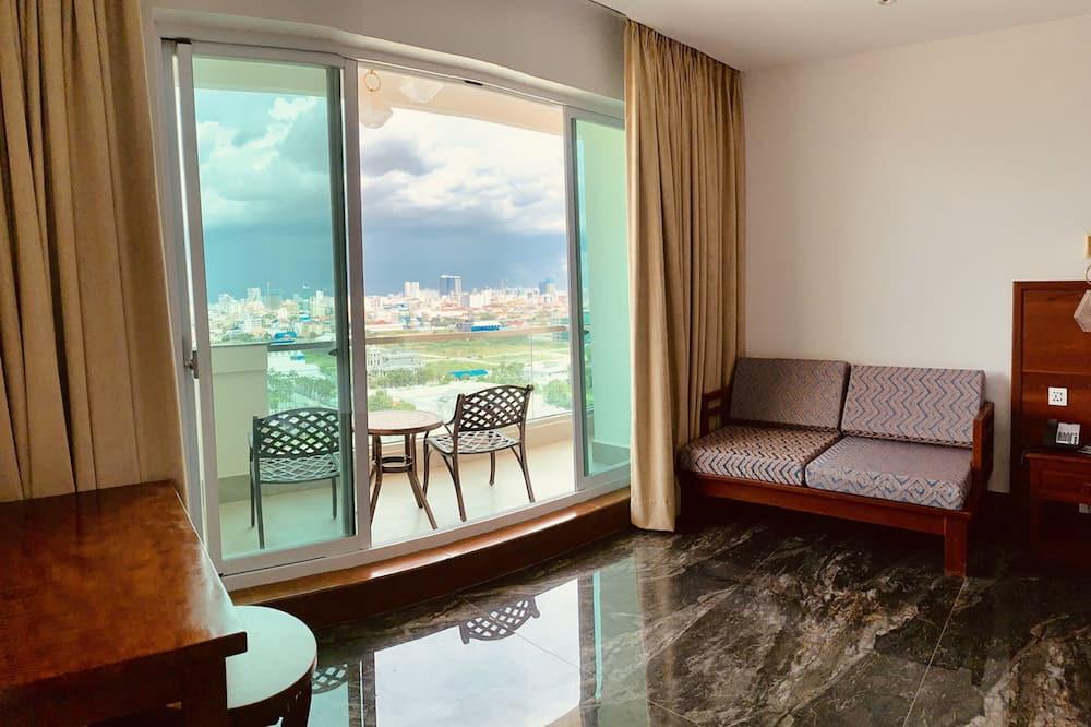 Premier-Doppelzimmer, Balkon - Blick auf die Stadt