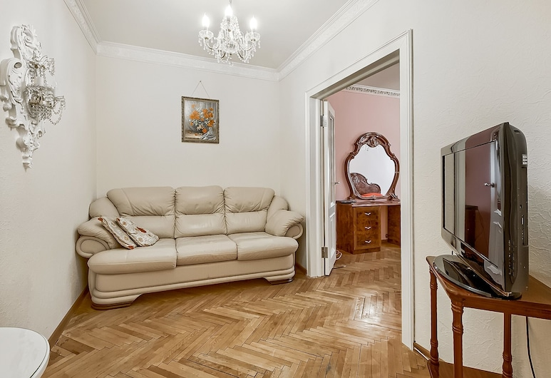 Prime Host apartments on Olimpiyskiy, Moscow, Apartment, Living Area