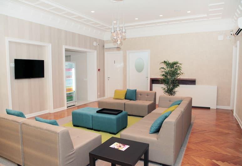 Karavan Inn, Belgrad, Sitzecke in der Lobby