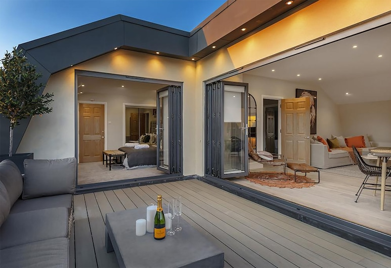 Superior Stays Luxury Apartments - Bath City Centre, Bath, Superior-þakíbúð - borgarsýn, Verönd/bakgarður