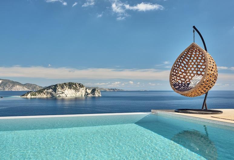Alkyonides Villas, Zante, Suite monolocale Luxury, piscina privata, vista mare (Feather), Piscina privata