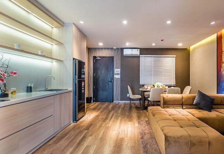 Sens House Nha Trang - The Skyline, Nha Trang, Premium Apartment, 1 King Bed, Balcony, Sea View, Living Area