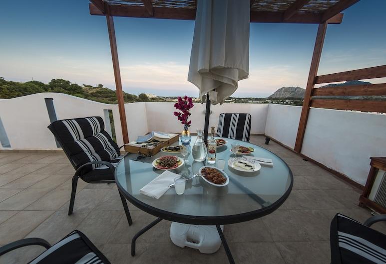 Villa Elia Kolymbia, Rodosz, Ház, 4 hálószobával, kilátással a hegyre, Erkély