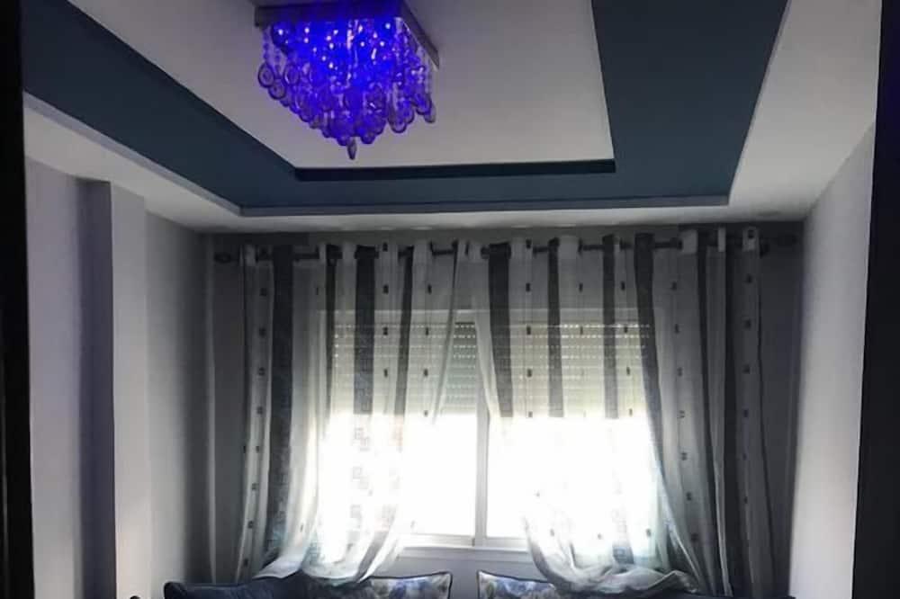 Deluxe-Apartment, 3Schlafzimmer, Gartenblick - Wohnbereich