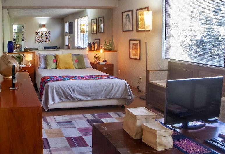 Casa Habitación San Angel, Mexico, Chambre Deluxe, 1 grand lit, vue jardin, Chambre