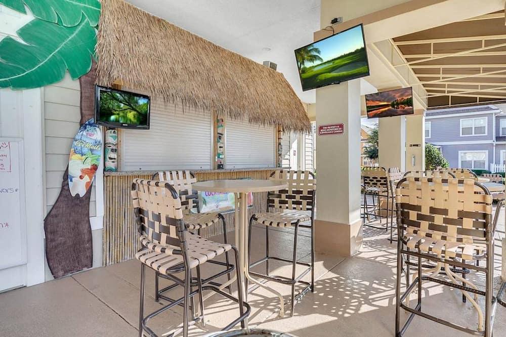 Maison mitoyenne, 3 chambres - Bar en bord de piscine