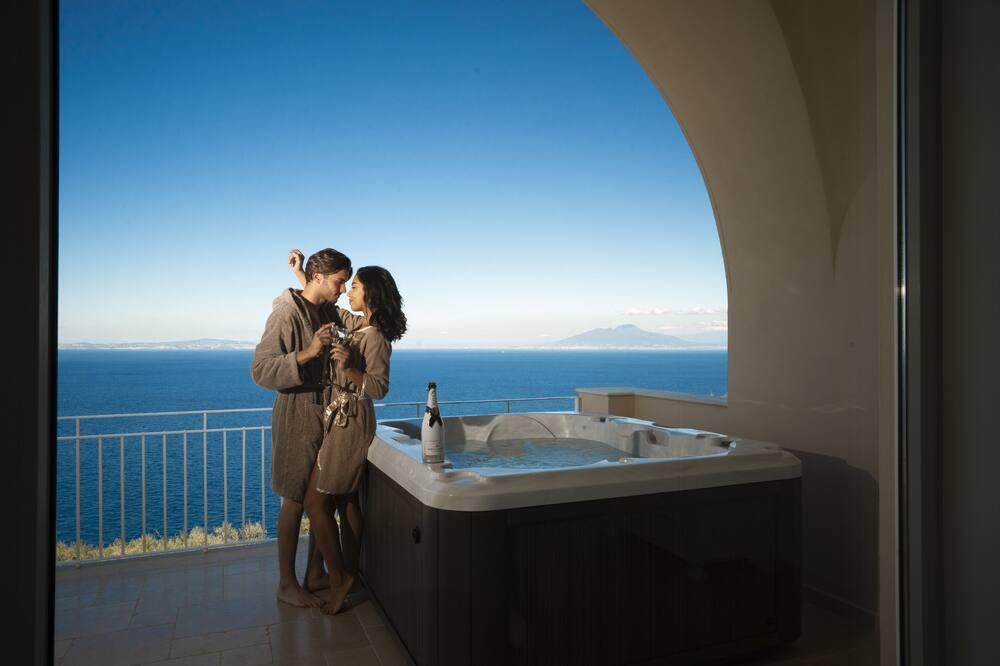 Panoramic Apartment, 1 Bedroom, Hot Tub, Sea View (Tatiana) - Private spa tub