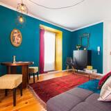 Departamento, 1 habitación, balcón, vista a la ciudad - Sala de estar