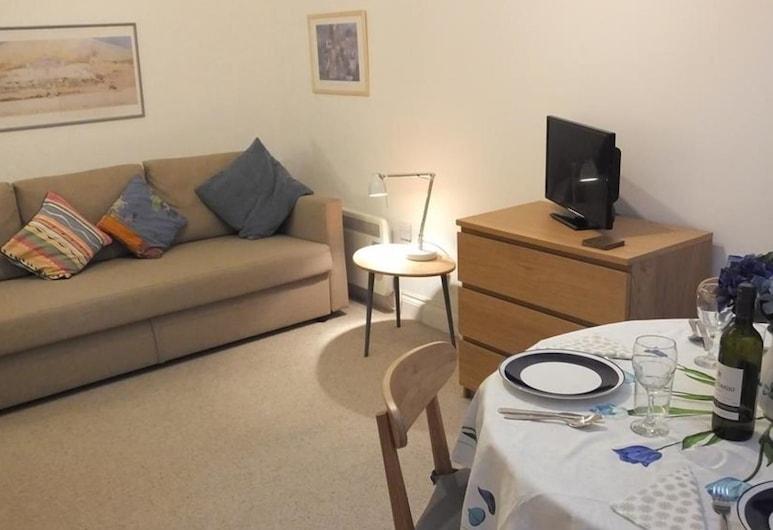 Cobra House Flat 5, Tenby, Ferienhaus (1 Bedroom), Wohnzimmer