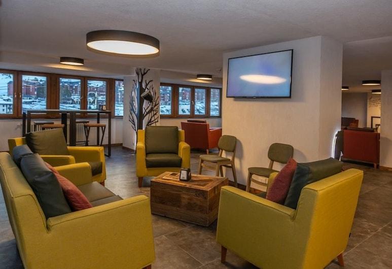 Hotel Petit Palais, Cervinia, Salón en el lobby