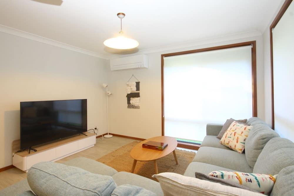 Exclusief huis, Meerdere bedden, 2 badkamers, Aan het strand - Woonruimte