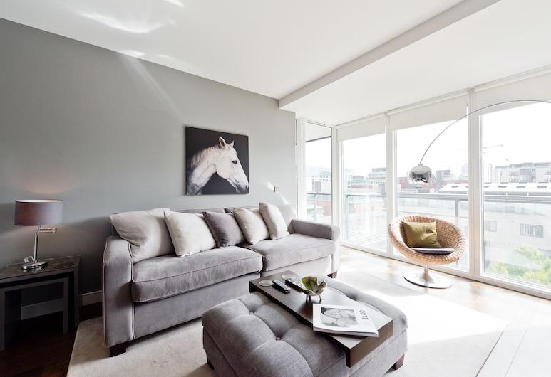 Sweet Inn - Lovely Riverside, Δουβλίνο, Deluxe Διαμέρισμα, 1 Queen Κρεβάτι, Καθιστικό