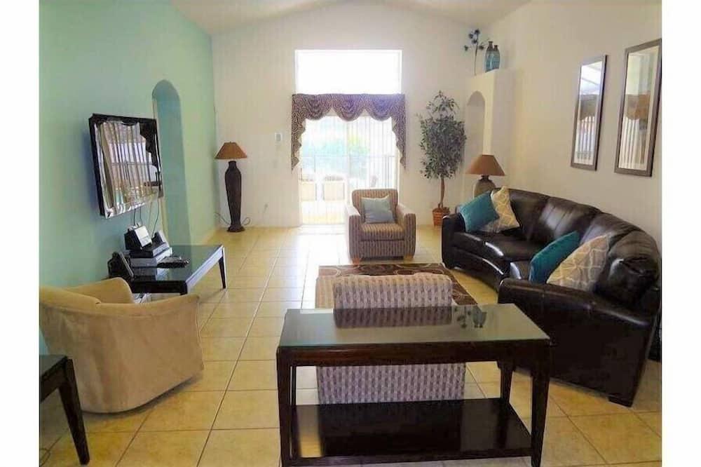 Vila, viacero postelí, súkromný bazén, výhľad na bazén - Obývacie priestory