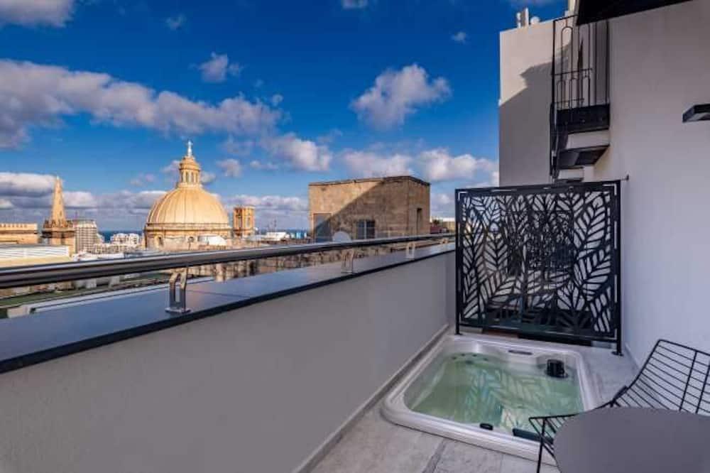 Superior-Zimmer, Terrasse, Meerblick (Jacuzzi) - Blick vom Balkon