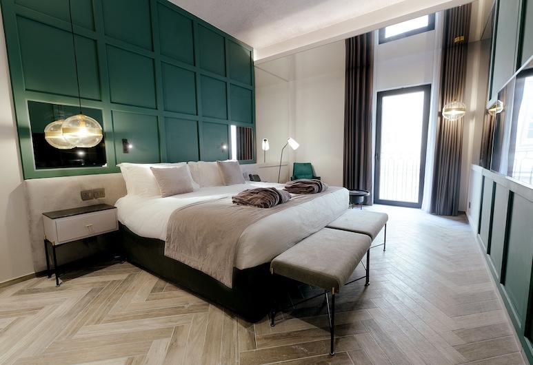 The Embassy Valletta Hotel, Valletta, Deluxe dubbelrum eller tvåbäddsrum, Gästrum