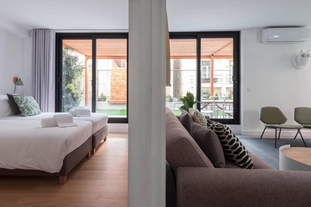 Dzīvokļnumurs, četras guļamistabas, terase - Dzīvojamā zona
