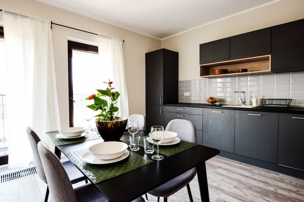 アパートメント ダブルベッド 1 台ソファーベッド付き - リビング エリア