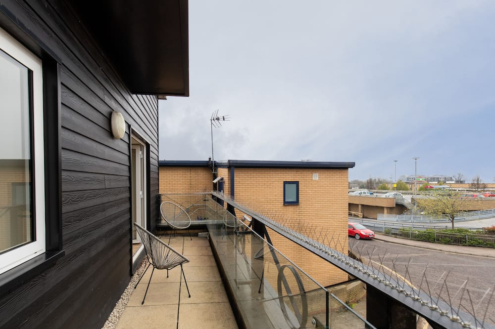 Deluxe apartman, privatna kupaonica - Pogled s balkona