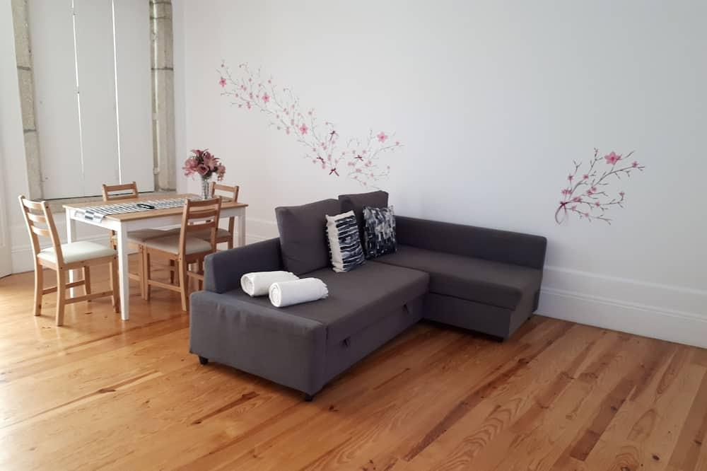 Căn hộ, 1 phòng ngủ, Khu vực vườn - Khu phòng khách