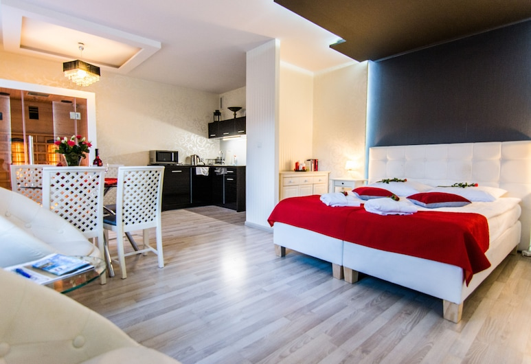 Apartamenty hoteLOVE pod Debami, Karpacz, Apartamento (CoraLOVE), Sala de Estar