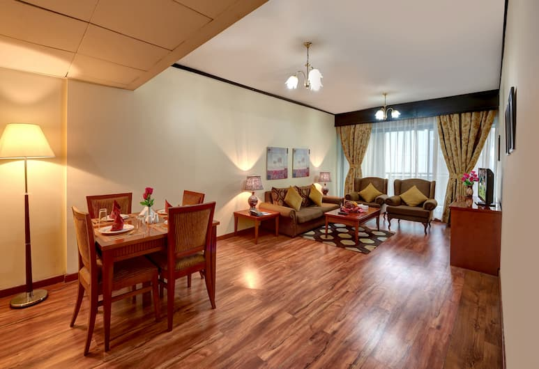london crown 1 hotel apartment, Dubajus, Apartamentai, 1 miegamasis, Svetainės zona