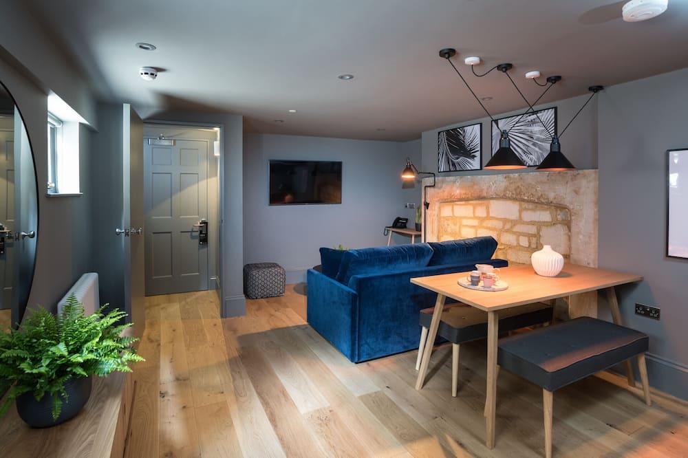 Luxury Διαμέρισμα, 1 King Κρεβάτι με Καναπέ-Κρεβάτι, Κουζίνα, Ισόγειο - Περιοχή καθιστικού