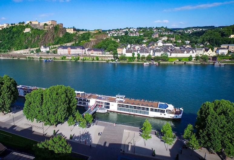Hotel Morjan , Koblenz, Habitación doble Deluxe, vista al río, Vista al agua