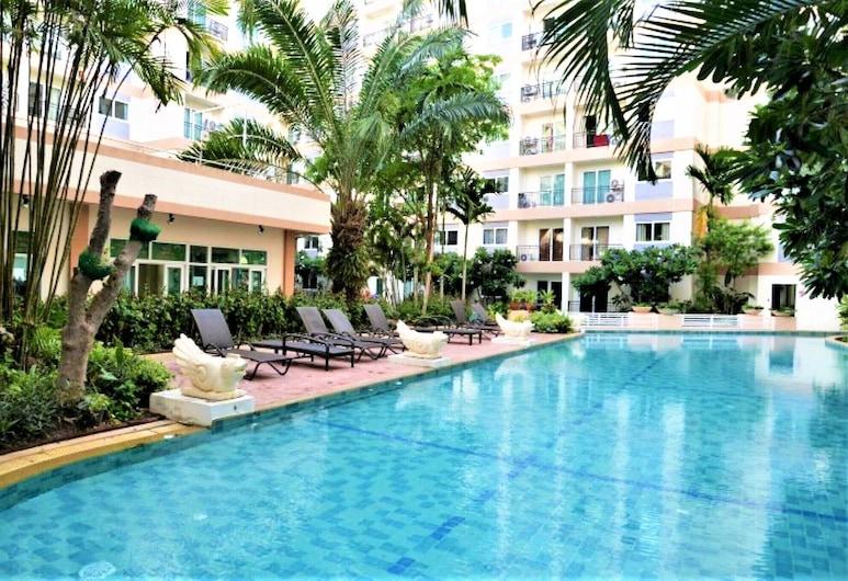 Park Lane Resort Jomtien Beach, Pattaya, Căn hộ, 2 giường cỡ queen, Quang cảnh từ phòng