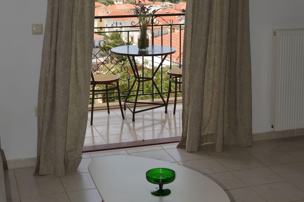 Panoramic Apartment, 1 Bedroom, Terrace, Sea View - Ruang Tamu