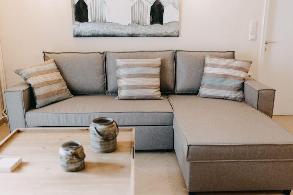 Camera Deluxe, 1 letto matrimoniale con divano letto, cucina, vista cortile - Area soggiorno