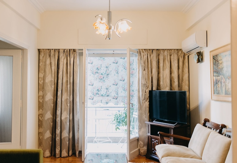 Best House Attiki Metro, Athens, Traditional Apartment, 1 Double Bed with Sofa bed, Balcony, City View, Living Area