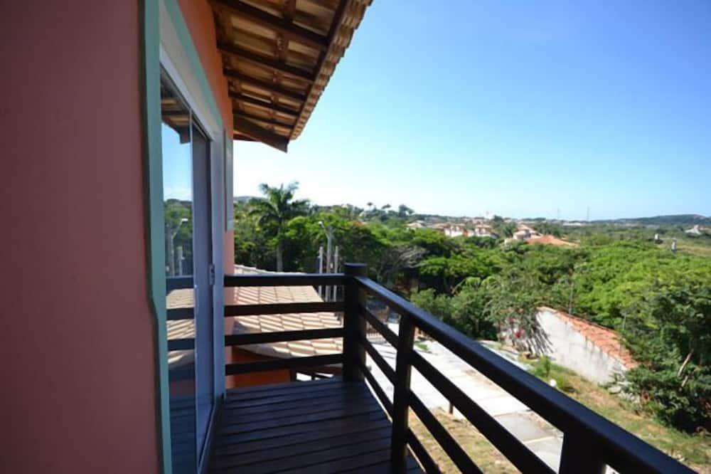 四人房, 1 張特大雙人床和 1 張沙發床, 海灘景觀 - 陽台景觀