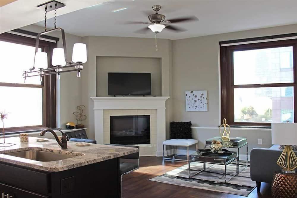 Departamento, 2 camas dobles - Sala de estar
