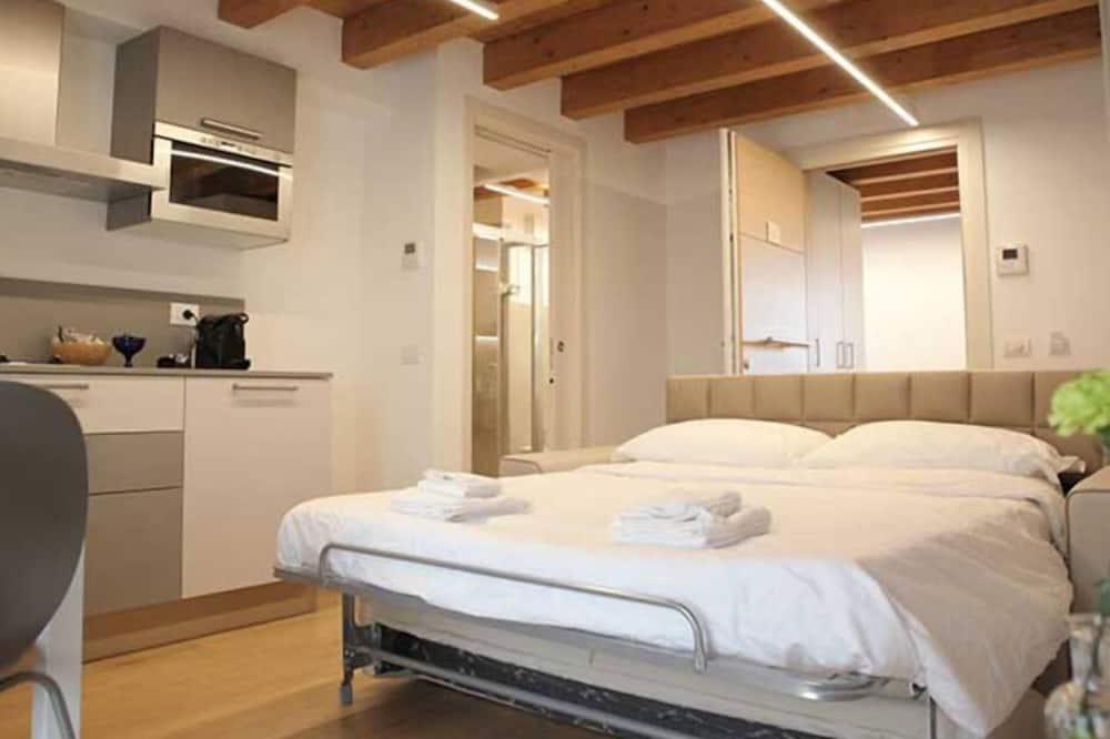 Departamento Deluxe, 1 cama Queen size con sofá cama, balcón - Habitación