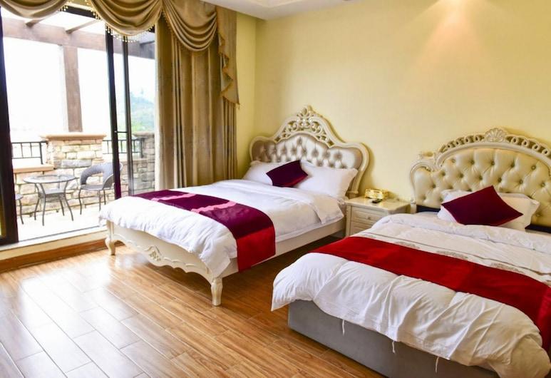 Hele Family Hot Spring Villa No.8, גואנגג'ואו, וילה, חדר