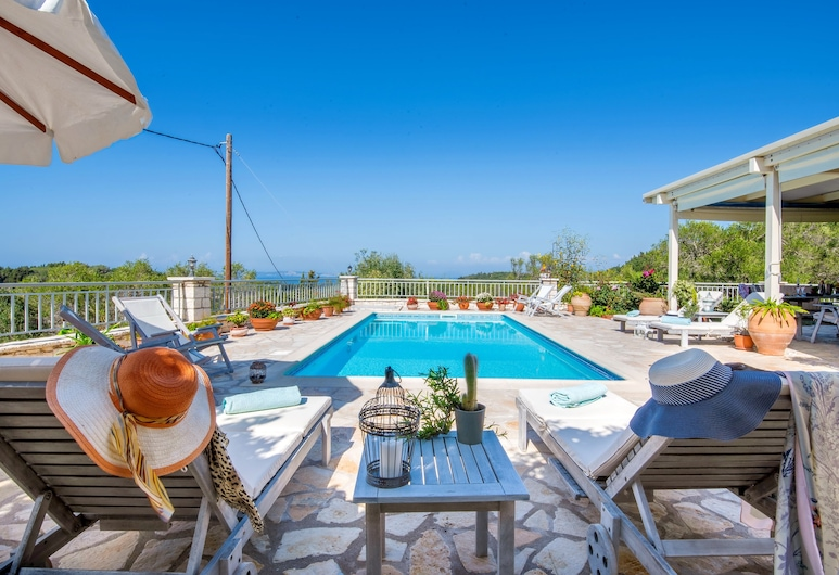 Stone Pool Villa Alina with Seaview By Konnect, Paxos, Outdoor Pool