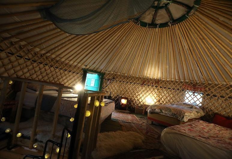 Hapus Yurt Luxury Yurts & Barn, Abergele, Namas, Kelios lovos, Kambarys