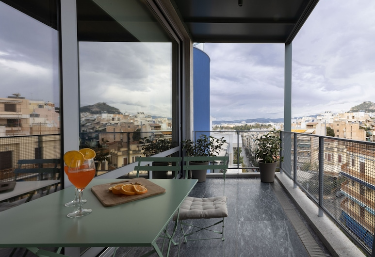 Athens BlueBuilding, Atenas, Athens BlueBuilding, 6th floor, Vista a partir das Varandas