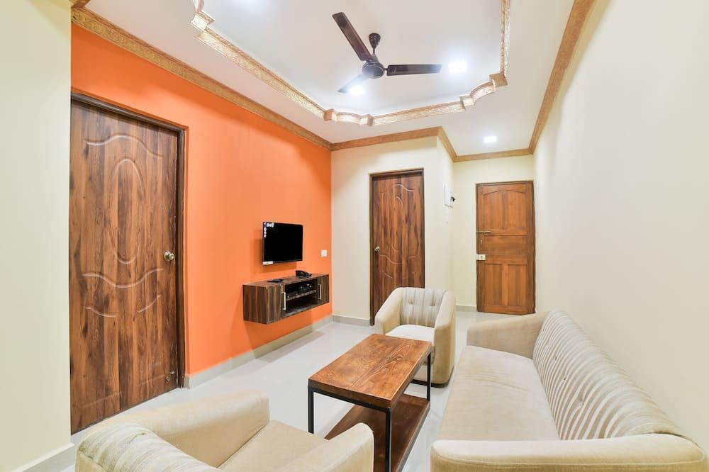 Deluxe kamer, 1 twee- of 2 eenpersoonsbedden, 1 kingsize bed - Woonruimte