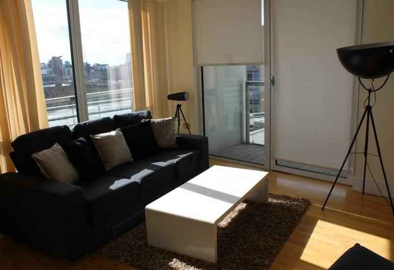 紅納瑟拉金絲雀碼頭公寓酒店, 倫敦, 尊貴公寓, 1 間臥室, 無障礙, 客廳