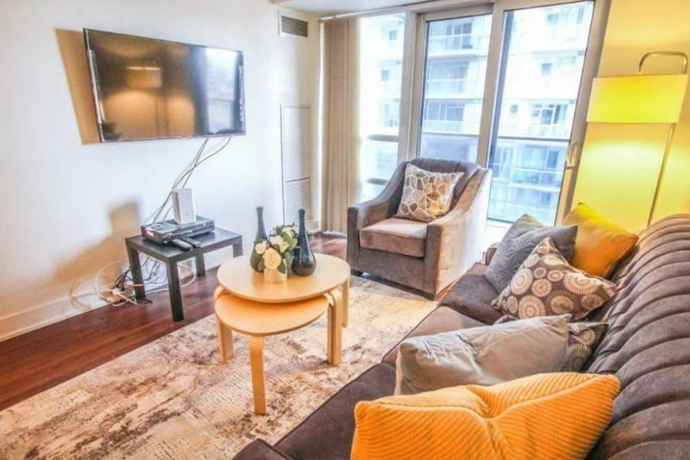 Leilighet – luxury, flere senger, utsikt mot byen - Oppholdsområde